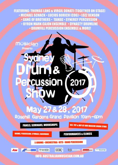 sydney drum percussion show set to shake rattle and roll rosehill gardens grand pavilion on. Black Bedroom Furniture Sets. Home Design Ideas